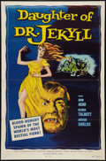 """Movie Posters:Horror, Daughter of Dr. Jekyll (Allied Artists, 1957). One Sheet (27"""" X41""""). Horror.. ..."""