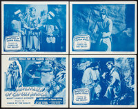 "Adventures of Captain Africa (Columbia, 1955). Lobby Card Set of 4 (11"" X 14"") Chapter 12 -- ""Fangs of th..."