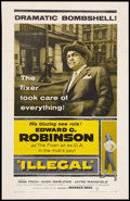 "Movie Posters:Crime, Illegal (Warner Brothers, 1955). One Sheet (27"" X 41""). Crime.. ..."