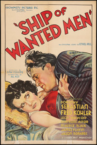 """Ship of Wanted Men (Showmens Pictures, 1933). One Sheet (27"""" X 41""""). Drama"""