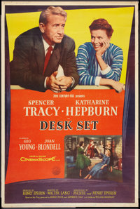 "Desk Set (20th Century Fox, 1957). Poster (40"" X 60"") Style Y. Comedy"