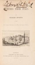 Books:First Editions, Charles Dickens. Pictures from Italy. London: 1846. Firstedition. Very good....