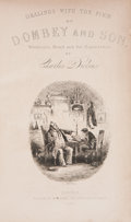 Books:First Editions, Charles Dickens. Dombey and Son. London: Bradbury and Evans,1848. First edition. Octavo. xvi, [1, Errata], 624 page...