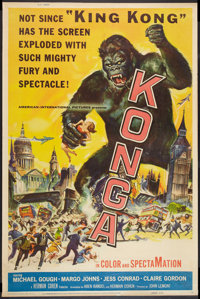 "Konga (American International, 1961). Poster (40"" X 60""). Science Fiction"
