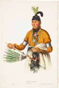 Antiques:Posters & Prints, McKenney and Hall. One Hand-Colored Lithograph from the 1870 OctavoEdition of History of the Indian Tribes of North Ame...