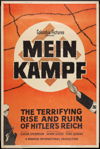 "Mein Kampf (Columbia, 1960). Poster (40"" X 60""). Documentary"