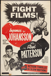 "Johansson vs Patterson (United Artists, 1960). Poster (40"" X 60""). Sports"