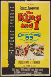 "The King and I (20th Century Fox, 1956). Poster (40"" X 60"") Style Y. Musical"
