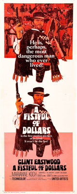 "A Fistful of Dollars (United Artists, 1967). Insert (14"" X 36"")"