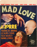 "Movie Posters:Horror, Mad Love (MGM, 1935). Window Card (14"" X 18"").. ..."