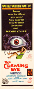 "Movie Posters:Science Fiction, The Crawling Eye (DCA, 1958). Insert (14"" X 36"").. ..."