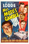 "Movie Posters:Mystery, Mr. Moto's Gamble (20th Century Fox, 1938). One Sheet (27"" X 41"").. ..."