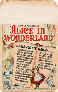"Alice in Wonderland (Paramount, 1933). Window Card (14"" X 22"")"