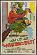 """Movie Posters:Serial, The Phantom of the West (Mascot, 1931). One Sheet (27"""" X 41"""")Chapter 6 -- """"The Canyon of Calamity."""" Serial.. ..."""