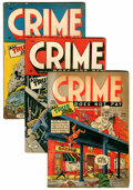 Golden Age (1938-1955):Crime, Crime Does Not Pay #30, 35, and 37 Group (Lev Gleason, 1943-45) Condition: Average VG.... (Total: 3 Comic Books)