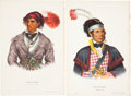Antiques:Posters & Prints, McKenney and Hall. Two Hand-Colored Lithographs from the 1870Octavo Edition of History of the Indian Tribes of NorthAm...