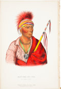 Antiques:Posters & Prints, McKenney and Hall. One Hand-Colored Lithograph from the 1870 OctavoEdition of History of the Indian Tribes of North...