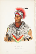 Antiques:Posters & Prints, McKenney and Hall. One Hand-Colored Lithograph from the 1870 Octavo Edition of History of the Indian Tribes of North Ame...
