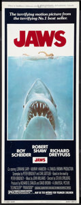 "Movie Posters:Horror, Jaws (Universal, 1975). Insert (14"" X 36""). Horror.. ..."