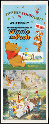 """The Many Adventures of Winnie the Pooh (Buena Vista, R-1977). Insert (14"""" X 36""""). Animated"""