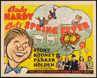 """Andy Hardy Gets Spring Fever (MGM, 1939). Half Sheet (22"""" X 28""""). Comedy"""