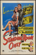 "Movie Posters:Comedy, Standing Room Only (Paramount, 1944). One Sheet (27"" X 41"").Comedy.. ..."