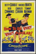 "Movie Posters:Comedy, How to Be Very, Very Popular (20th Century Fox, 1955). One Sheet(27"" X 41""). Comedy.. ..."