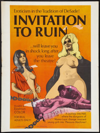 "Invitation to Ruin (Weisbar, 1968). Poster (30"" X 40""). Sexploitation"