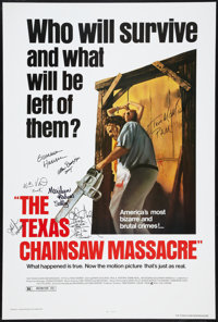 "The Texas Chainsaw Massacre (New Line Cinema, R-1980). Autographed One Sheet (27"" X 41""). Horror"