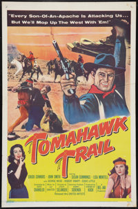 """Tomahawk Trail (United Artists, 1957). One Sheet (27"""" X 41"""") and Lobby Card Set of 8 (11"""" X 14"""") Wes..."""