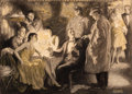 Paintings, EDMUND F. WARD (American, 1892-1991). Intrusion. Charcoal, watercolor, and pencil on paper. 18.5 x 26 in.. Signed lower ...