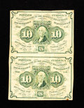 Fractional Currency:First Issue, Fr. 1242 10¢ First Issue Vertical Pair Fine.. ...