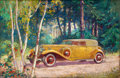 Mainstream Illustration, AMERICAN ARTIST (20th Century). Packard Motor Car Companyadvertisement. Oil on canvas. 30 x 46 in.. Not signed.Fro...