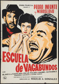 """Movie Posters:Comedy, School for Tramps (Diana Films, 1955). One Sheet (28"""" X 39""""). Comedy.. ..."""