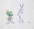 Animation Art:Production Drawing, Virgil Ross Marvin the Martian and Bugs Bunny DrawingOriginal Art (Warner Bros., undated)....