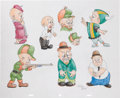 Animation Art:Production Drawing, Virgil Ross Elmer Fudd Drawing Original Art (Warner Bros.,undated)....
