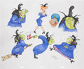 Animation Art:Production Drawing, Virgil Ross Witch Hazel Drawing Original Art (Warner Bros.,undated)....