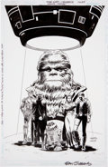 Original Comic Art:Covers, Dan Jurgens and Jerry Ordway Star Wars: Chewbacca CoverOriginal Art (Dark Horse, 2000)....