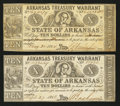 Obsoletes By State:Arkansas, (Little Rock), AR- Arkansas Treasury Warrants $10 Two Examples. ... (Total: 2 notes)