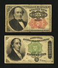 Fractional Currency:Fifth Issue, Two Fractional Types.. ... (Total: 2 notes)