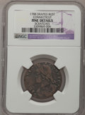 Colonials: , 1788 COPPER Connecticut Copper, Draped Bust Left--Scratches--NGCDetails. F. NGC Census: (0/8). PCGS Population (3/42). (...