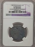 Colonials, 1788 COPPER Connecticut Copper, Mailed Bust Left--EnvironmentalDamage--NGC Details. VF. NGC Census: (1/7). PCGS Population...