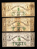Obsoletes By State:Louisiana, Baton Rouge, LA- State of Louisiana $1; $2; $3 Feb. 24, 1862. ... (Total: 3 notes)
