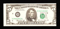 Error Notes:Miscellaneous Errors, Fr. 1973-D $5 1974 Federal Reserve Note. About Uncirculated.. ...