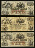 Obsoletes By State:Maryland, Hagerstown, MD- Valley Bank $5 Jan. 31, 1855 (2); Jan. 31, 1856. ... (Total: 3 notes)