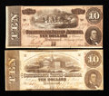 Confederate Notes:1863 Issues, T59 $10 1863. T68 $10 1864.. ... (Total: 2 notes)