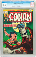 Bronze Age (1970-1979):Miscellaneous, Conan the Barbarian #38 (Marvel, 1974) CGC NM+ 9.6 Off-whitepages....