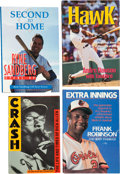 Baseball Collectibles:Publications, Baseball Hall of Famers Signed Hardcover Books Lot of 4....