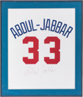 Basketball Collectibles:Others, Kareem Abdul-Jabbar Signed Jersey Number Display....