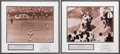 Baseball Collectibles:Photos, Bobby Thomson and Bill Mazeroski Signed Photograph Displays Lot of 2....